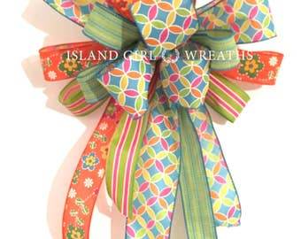 Wreath Bow, Easter Wreath Bow, Spring Wreath Bow, Summer Wreath Bow Wreath Bows