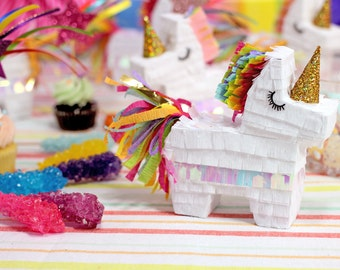 Mini Rainbow Unicorn Pinata (3), Rainbow Unicorn Party, Unicorn Party Favor, Rainbow Unicorn Decorations, Unicorn Birthday, Set of 3