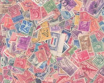 United States Postage Stamps - A Mixture of Used Stamps, from the Early 1900's til the Mid 50's.