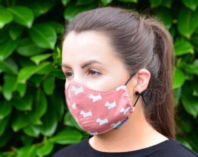 MASKERAID Scottie Dogs Reusable Cotton Face Mask
