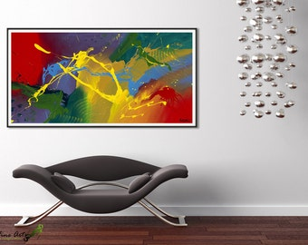 Art prints, Extra large wall art, Livingroom Decor, Abstract Wall Art Print, Modern office decor Giclee print by RASKO