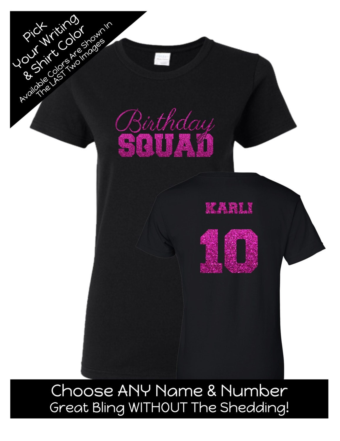 T shirt design quad cities - Birthday Squad Shirt With Script Writing Personalize The Name Age And Colors Birthday Party Matching Shirts