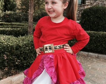 "Disney Princess Elena of Avalor inspired ""grow with me"" apron/dress……Halloween costume..Birthday Dress…Disney trip outfit!!!"