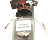 Handmade Outlander Scottish Gaelic I Love You Valentine's Day Card