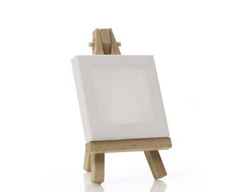 Mini Canvas & Easel   Miniature Painting Canvas   Tiny Cotton Art Canvas With Wood Stand   Art Supplies Tools Painters Canvas   Small Canvas