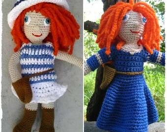 Crochet pattern amigurumi - Crochet doll pattern - Amigurumi doll clothes two PDF patterns - Two doll outfits