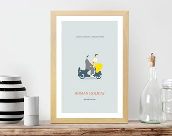 Roman Holiday Movie Poster- Minimalist, Roman Holiday Print