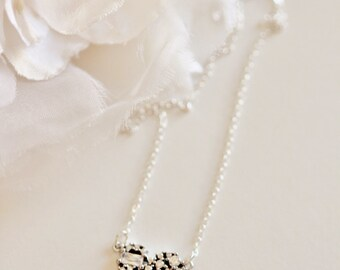 Valentines Gift Sterling Silver Heart Necklace Crystal Necklace For Women Wedding Gift For Bride Love Necklace Mother Necklace Girlfriend