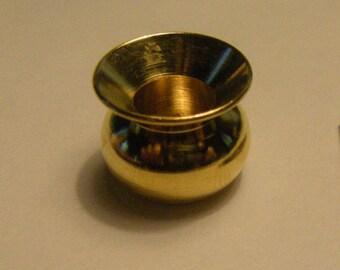 Versatile Brass Planter/Pot/Vase/Urn/ Spitoon  in 1/12 Dollhouse Scale