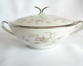 Vintage Noritake China Sugar Bowl Arlene Pattern 5802 Made in Japan