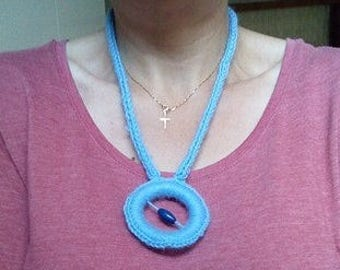 Crochet statement necklace