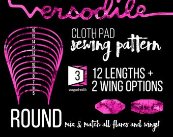 """3"""" ROUND Cloth Pad Sewing Patterns 