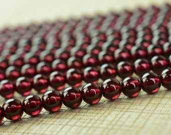 AAA Garnet Smooth Round beads, Fine Quality Red Garnet Smooth Ball Beads, Natural  garnet Beads AAA Grade Beads, Full 13 Inch Strand