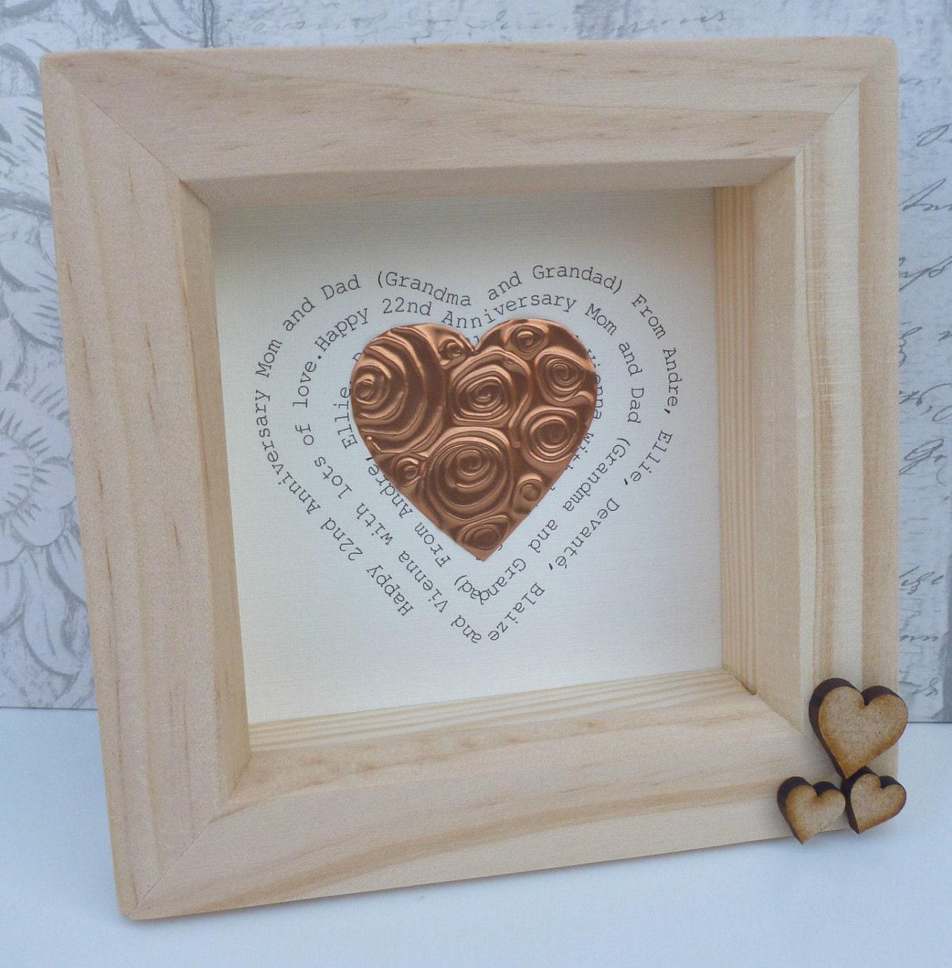 22nd Wedding Anniversary Gift Ideas: 7th Wedding Anniversary Gift, Copper Anniversary Gift, 7th