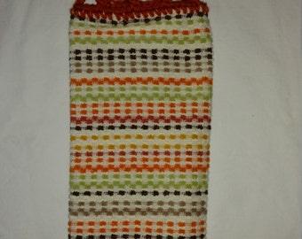 Earthtone Stripes Hanging Kitchen Towel