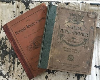 A Pair of Antique Music Books