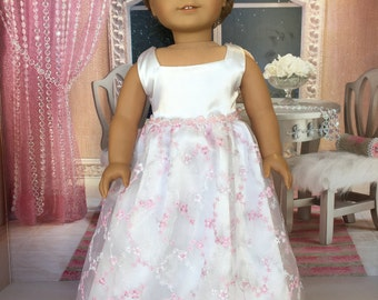 18 inch evening doll dress -  18 inch doll dress -  fits 18 inch dolls such as American Girl, My life As and Our Generation