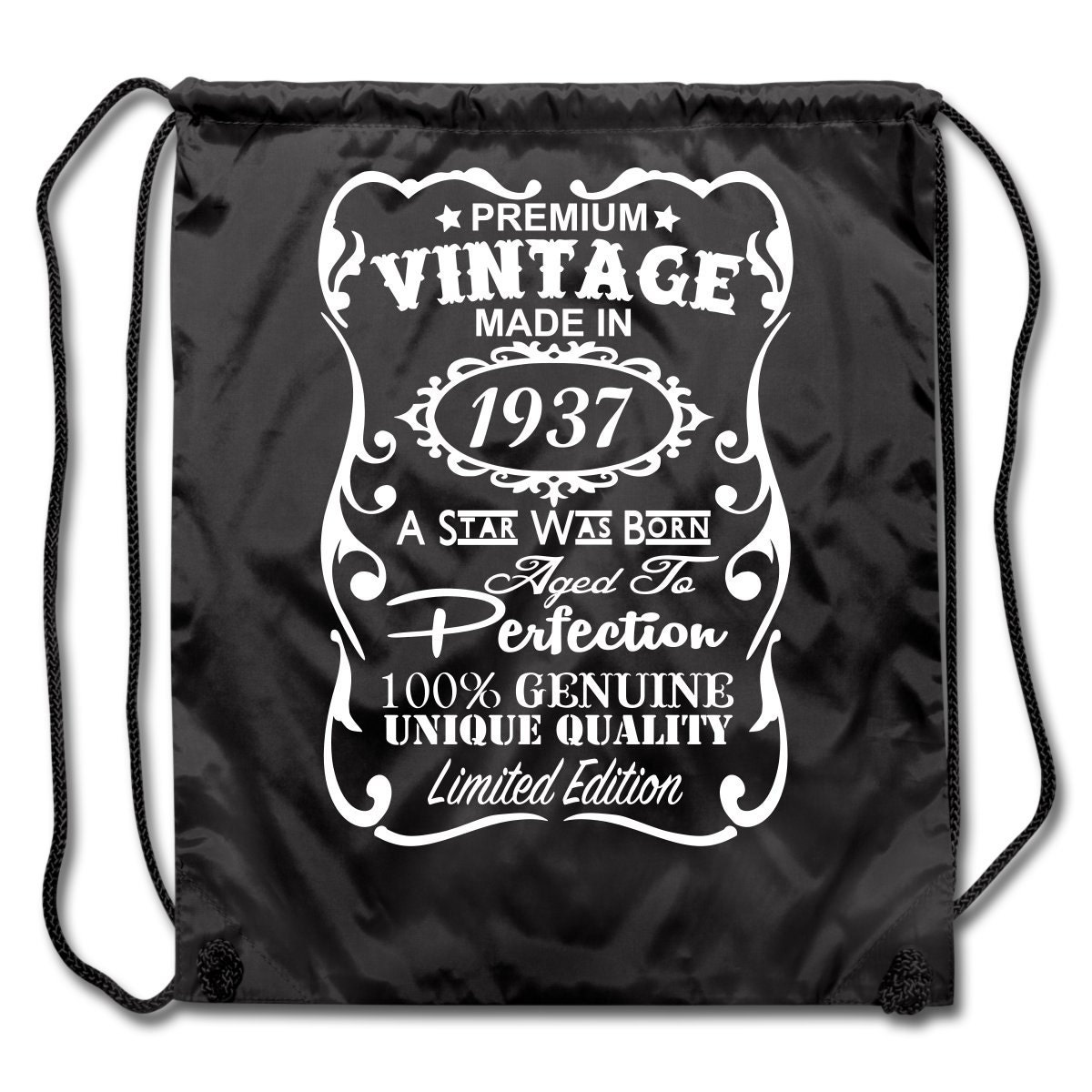 80th birthday gift ideas unique drawstring backpack made in 1937