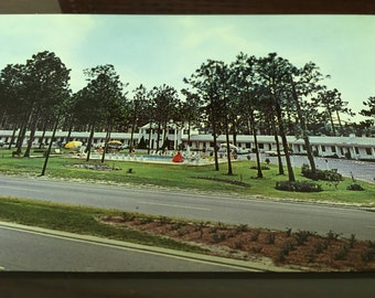Vintage Postcard, Kingswood Inn Motel, Perry, Florida, 1950's Vacation Souvenir