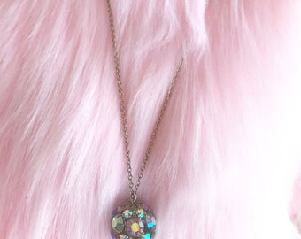 Vintage Shiny Cluster Pendent Necklace