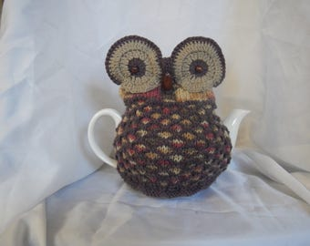 Brown and Beige Owl Tea Cosy