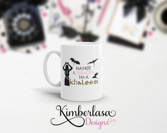 khaleesi mug, princess mug, got mug, dragon mug, targaryen mug, danaerys mug, mother of dragons mug DESIGN 2