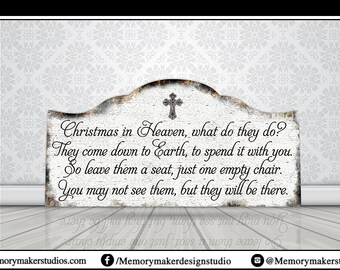 Christmas in Heaven sign, Empty Chair sign, Heaven sign, Leave a seat sign, Christmas in heaven with a chair, Christmas in Heaven Poem