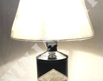 Bottle Gin Hendrick's table lamp recycled upcycle furniture abat jour light with lampshade