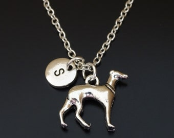 Greyhound Necklace, Greyhound Charm, Greyhound Pendant, Greyhound Jewelry, Greyhound Lover, Greyhound Memorial, Greyhound Dog, Dog Necklace