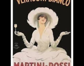 Martini & Rossi - 'Vermouth Bianco' - 11x14 - Framed
