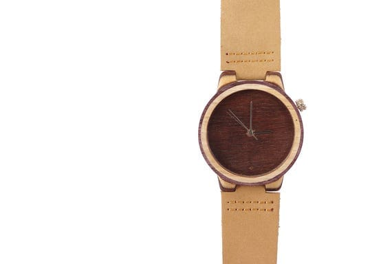 7PLIS watch #31 Recycled SKATEBOARD #madeinfrance yellow brown green wood