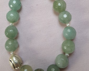 Water green Aventurine with beads
