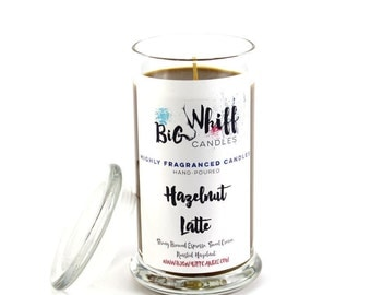 Hazelnut Latte - Scented Candles, Handmade Candles, Scented Candle, Aromatherapy Candles, Hazelnut Candle, Coffee Candle