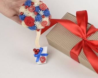 Fridge|magnet Women's gift Housewarming gift Home decor for kitchen Gift|for|women Gift magnet Red-White-Blue FM18