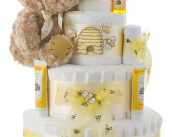 Winnie the Pooh Diaper Cake by Lil' Baby Cakes