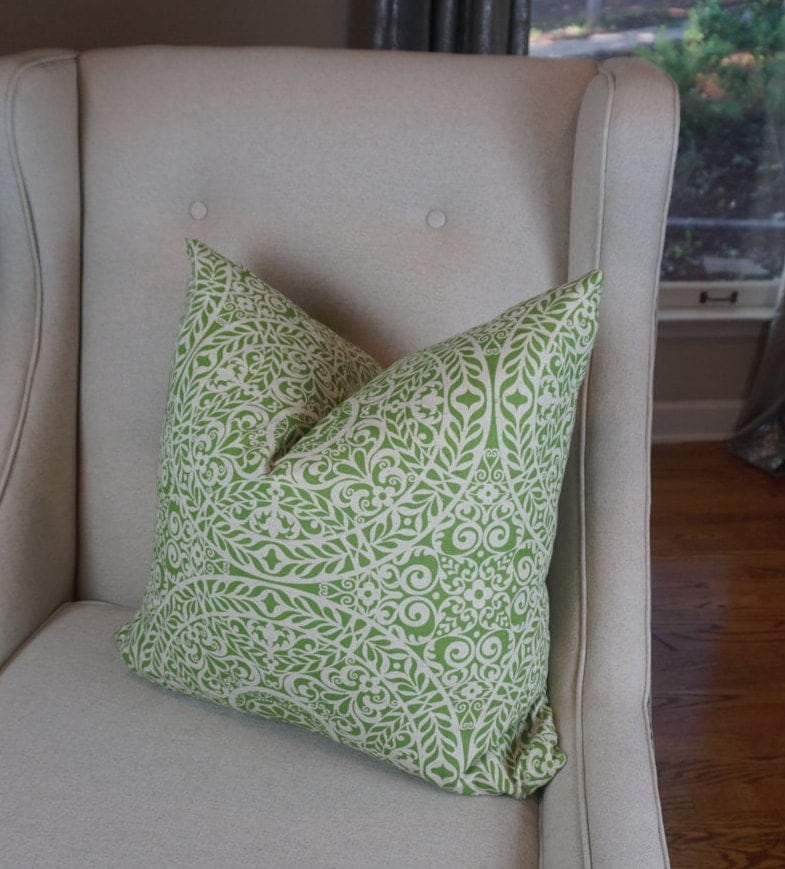 Green and Beige Pillow Cover Decorative Pillows Housewares