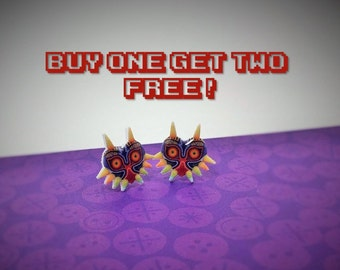 The Legend of Zelda/ Majora's Mask Plastic Studs/ Buy One Get Two (SEE DESCRIPTION)/