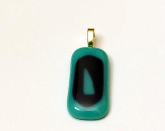 Fused Glass Pendant, Blue Pendant, Pendant, Glass Pendant, Abstract