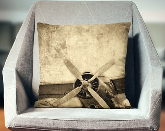 Airplane Decor | Plane Decor | Airplane Pillow | Airplane Pillow | Aviation Pillow | Vintage Airplane Pillow | Aviation Decor