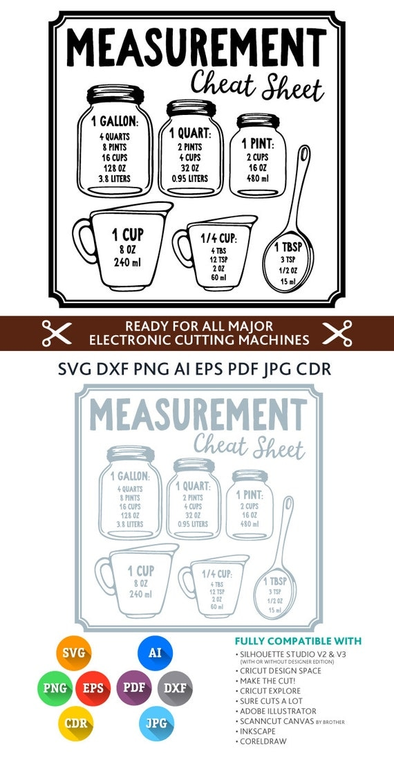Download Kitchen Conversion Svg Measurement Cheat Sheet Svg by ...