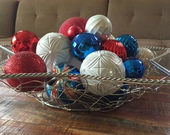 Fourth of July Decor, Indpendence Day Decor, Red White and Blue, Americana decor, Patriotic Decor, Memorial Day, Summer Decor, American Deco