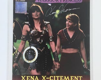 Xena, Warrior Princess Comic Book, Number 1, Signed, Vintage Topps Comics, Mint, Certificate of Authenticity, Autograph, Xena TV Series