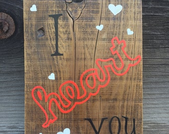 I HEART YOU- Wall Sign