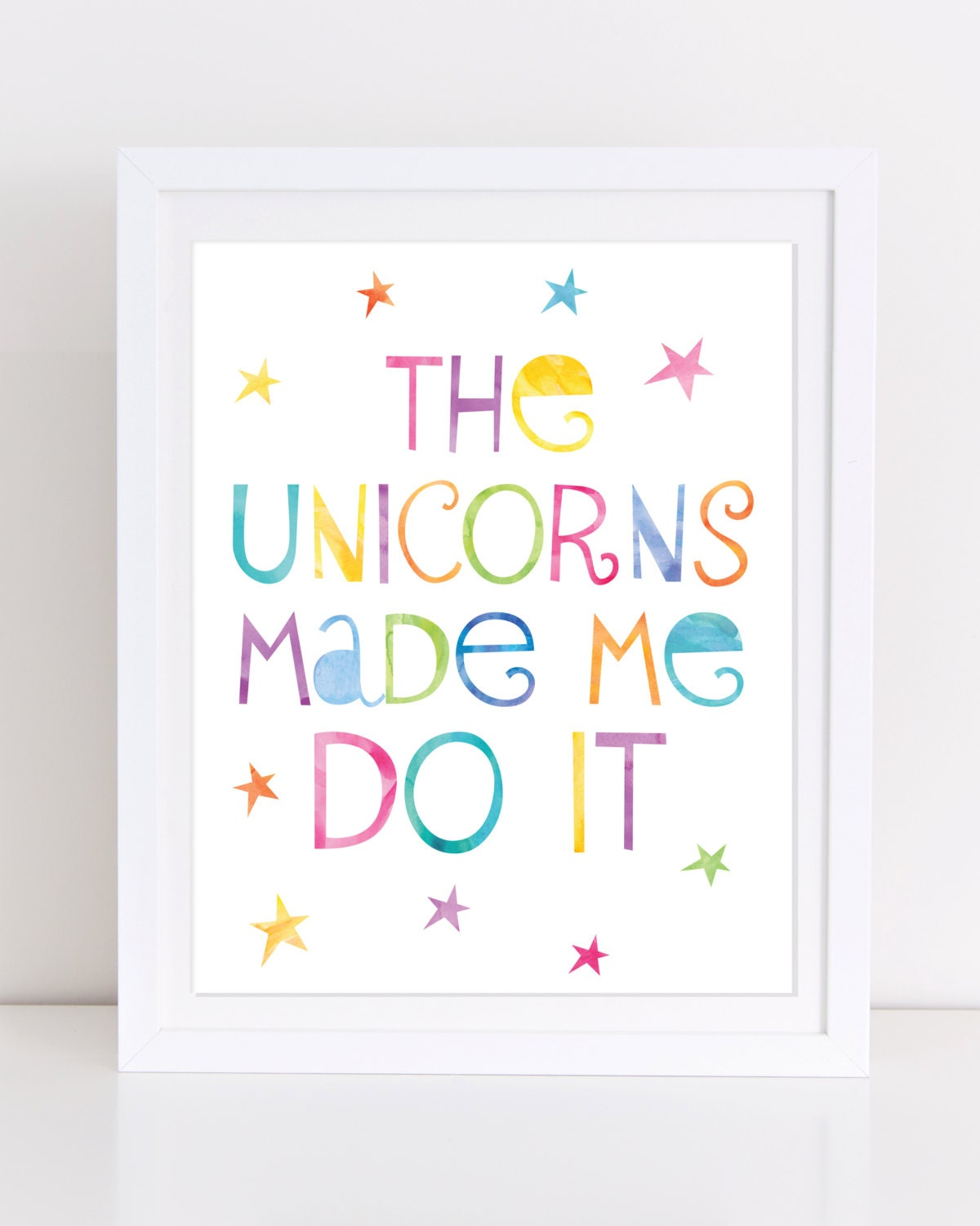 Bedroom Art Printables: Unicorn Print Printable Wall Art Unicorn Printable The