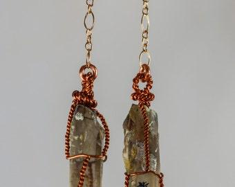 Quartz Crystal Dangle earrings #2