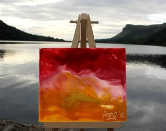 Warm Breeze- Little Easel Wax Paintings