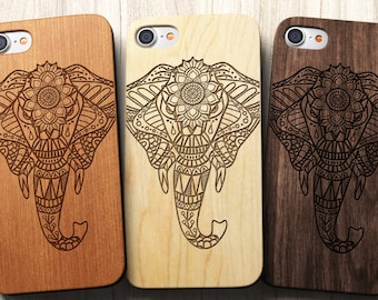 Tribal /Zendala Elephant iPhone 8 Case also for iPhone X, 8, 8 Plus, 7, SE, 5/5s, 6s, 6 Plus and 7 Plus Case, S6, S7, S7 Edge, S8, S8Plus