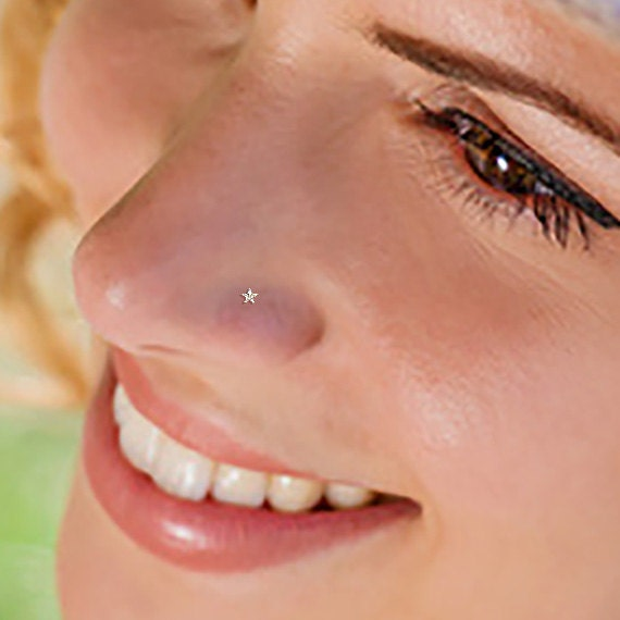 Star Cz Nose Stud Small Nose Stud Star Nose Stud Nose Ring