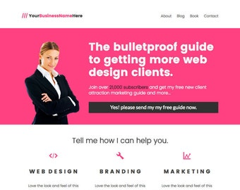 WordPress Homepage Template For Personal Brand Or Author Website