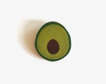 Avocado Brooch - Wood Slice,, Wooden Brooch, Wooden Jewelry, Vegan Jewelry, Wood Avocado, Wood Pin, Avocado Pin, Wood Avocado Jewelry